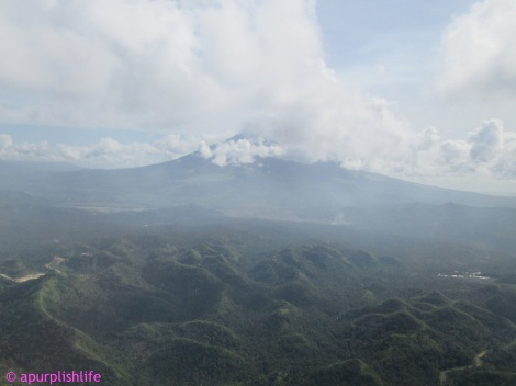 Mt. Mayon, taken while plane is about to land at Legazpi Airport