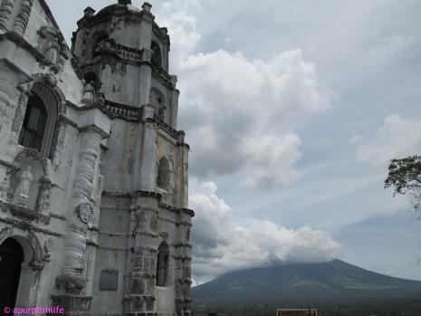 Daraga Church with Mt. Mayon at the background