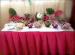 September: I made a candy buffet table for my lovely niece's 7th Birthday. Just one of my godmother duties :)